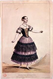 1836年ころ 自作の「ラ・カチューシャ」を踊るファニー・エルスラー